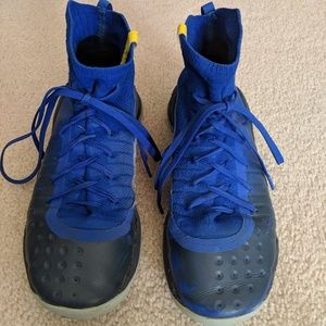 Curry 4 Blue Basketball Shoes - Size 7Y